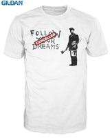 Funny Clothing Casual T Shirts Gildan Banksy Follow Your Dreams Funny Smart Short Men Crew Neck