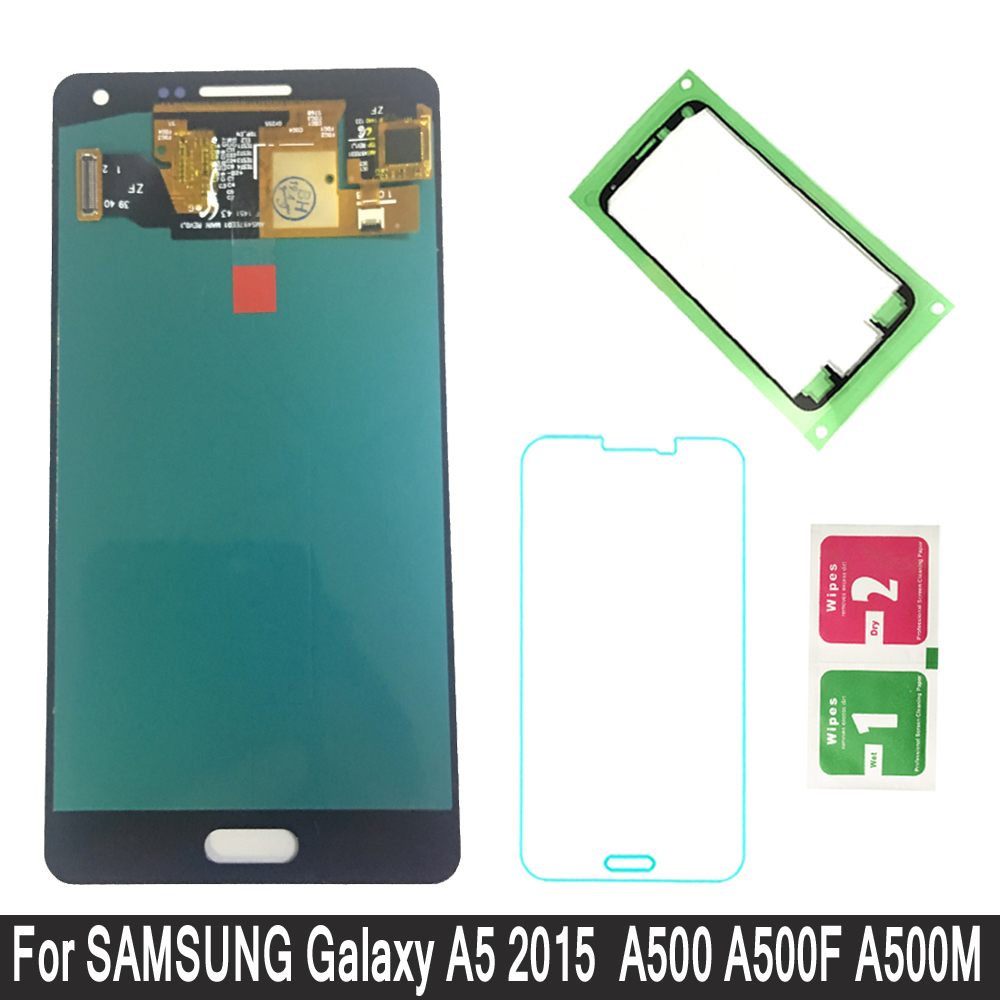 Super AMOLED LCDs For Samsung Galaxy A5 2015 A500 A500F A500H A500M Phone LCD Display Touch Screen Digitizer ReplacementSuper AMOLED LCDs For Samsung Galaxy A5 2015 A500 A500F A500H A500M Phone LCD Display Touch Screen Digitizer Replacement