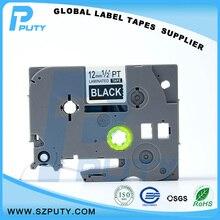 Совместимость белый на черном TZe-335 TZ-335 12 мм ламинированный этикеток для Ptouch принтеры