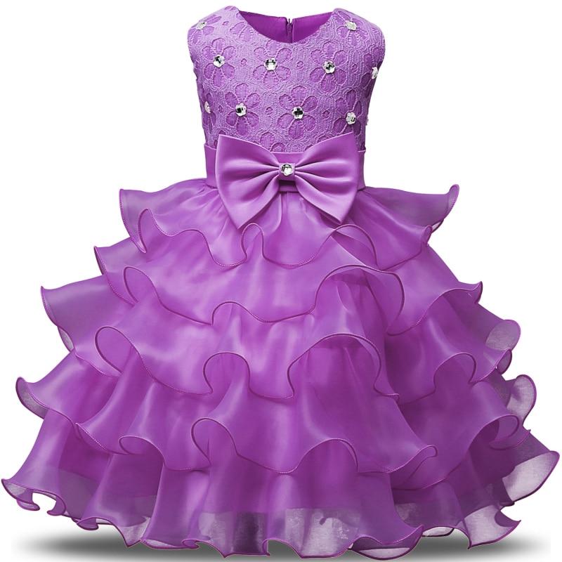 New Birthday party girl dress for girls clothes kids dresses Summer 2018 Formal wear Wedding princess tutu infant dress girl