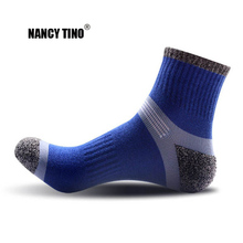 купить NANCY TINO Men/Women Sports Socks Outdoor Quick-drying Breathable Ankle Sock Hiking Running Climbing Warm Towel Knee-High Socks дешево