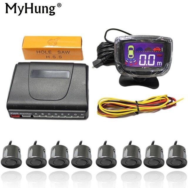 Car Parking Sensor Kit Auto LED Display Sensors For All Cars Reverse Assistance Backup Radar Monitor Parking System 1 Set