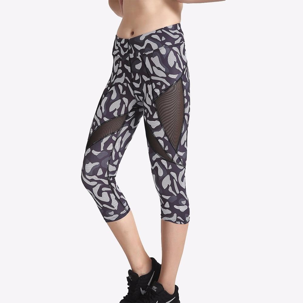 Новое поступление Leopard Для женщин до середины икры Леггинсы для женщин пикантные Обувь для девочек Фитнес Йога Подрезанные штаны Популярны...