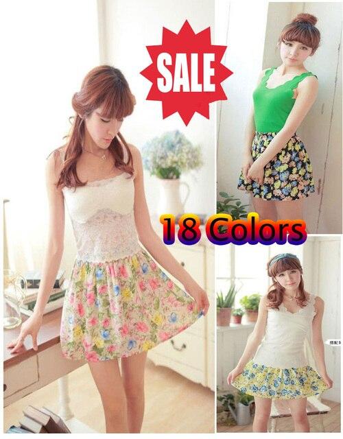Free shipping 2013 Summer Korean chiffon skirts package hip new career high waist floral skirt pleated skirt tutu