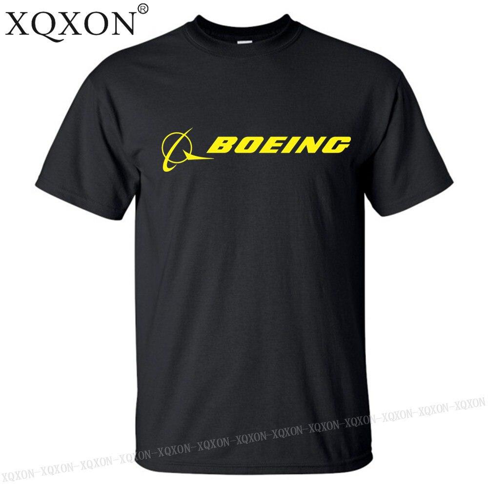 c71846140b5e Μπλούζες   μπλουζάκια XQXON-2019 new style summer 100% cotton t shirt  Boeing aircraft logo printed design men t-shirt tee tops K321