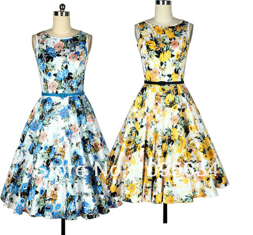 Popular Floral Tea Dress-Buy Cheap Floral Tea Dress lots from ...