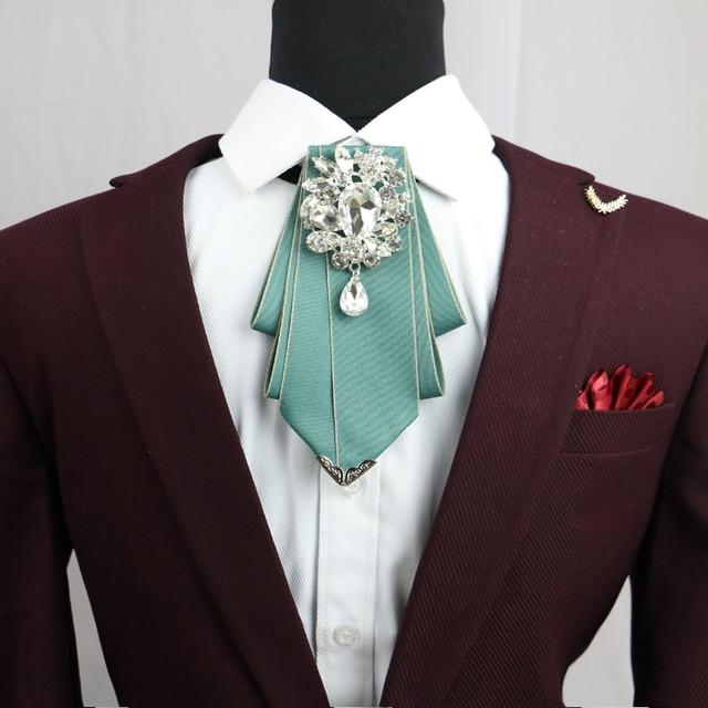 Dwayne New Design England Wedding Marriage Uniform Collar Flower Men S Formal Wear Groomsmen Diamond Bow Tie