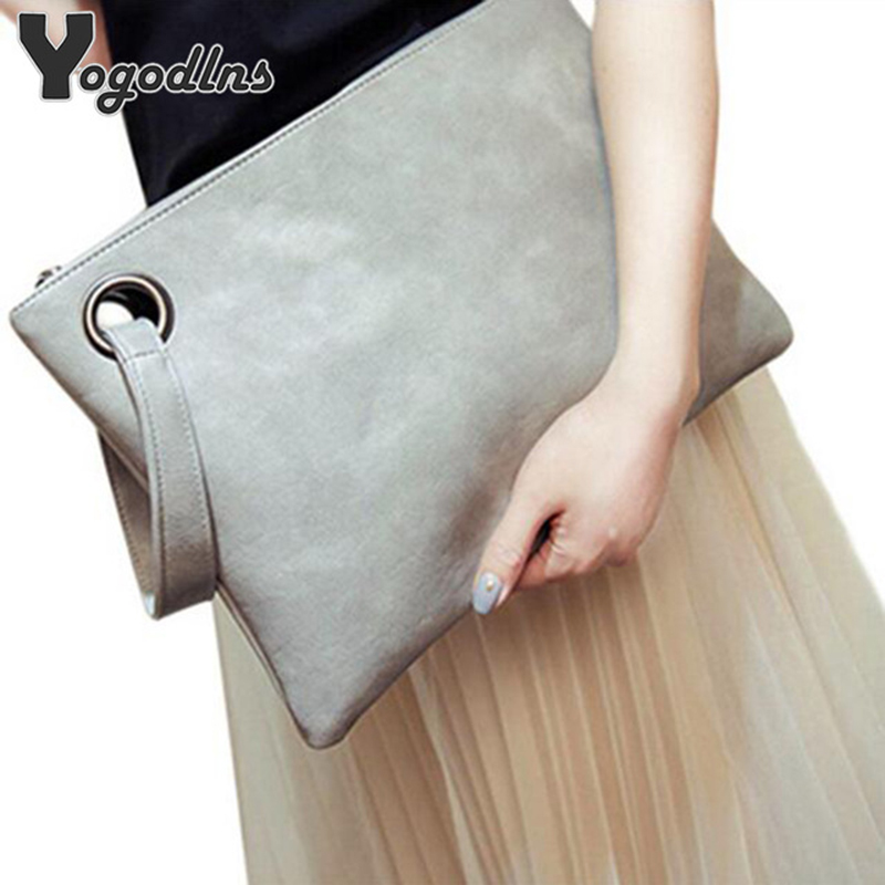 Fashion solid women's clutch bag leather women envelope bag clutch evening bag female Clutches Handbag Immediately shipping(China)
