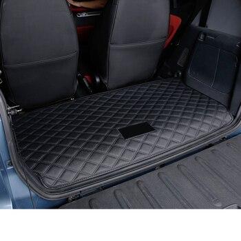 lsrtw2017 fiber leather car trunk mat for smart fortwo 2007 2008 2009 2010 2011 2012 2013 2014