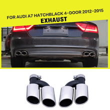 S7 Statinless Steel Auto Car Exhaust Tips Muffler Pipe for Audi A7 Hatchback 4-Door 2012-2015
