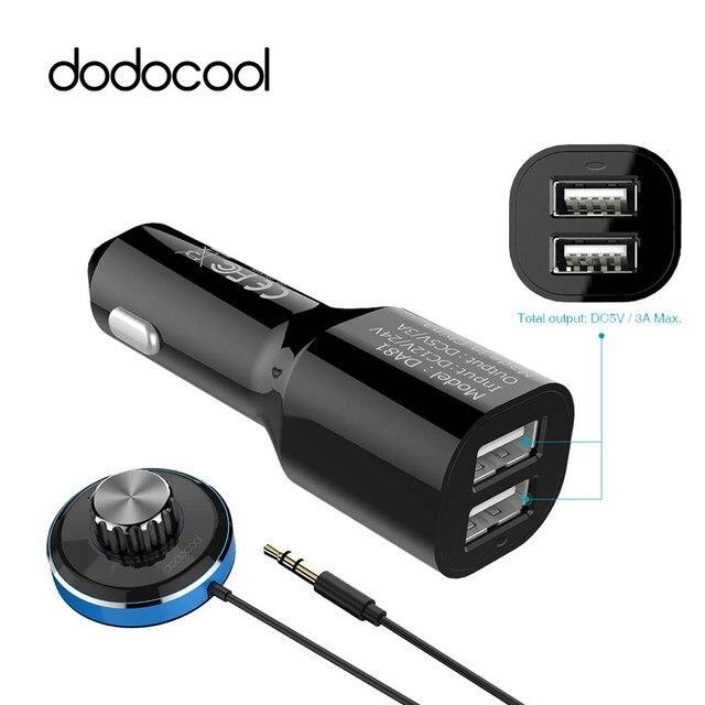 Dodocool USB receptor Bluetooth Kit de coche adaptador BT4.0 altavoz inalámbrico Cable de Audio libre para USB cargador de coche para iPhone manos libres