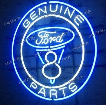 Custom GENUINE PARTS FORD Neon Light Sign Beer Bar
