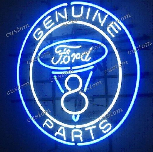 Custom GENUINE PARTS FORD Neon Light Sign Beer Bar