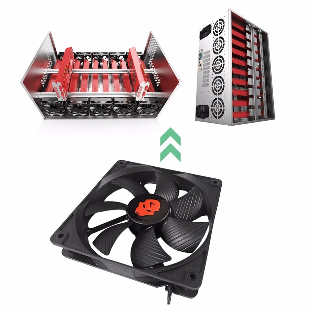 4PIN 120mm DC 12V 1.6A 3000RPM Miner Mining Case Cooling Fan Dual Ball Bearing 154.5CFM Large Air Volume Cooling Fan Dropshiping original delta tfc1212de 12cm 12038 12v 3 9a 252cfm winds of booster pwm fan violence for bitcoin miner super cooling