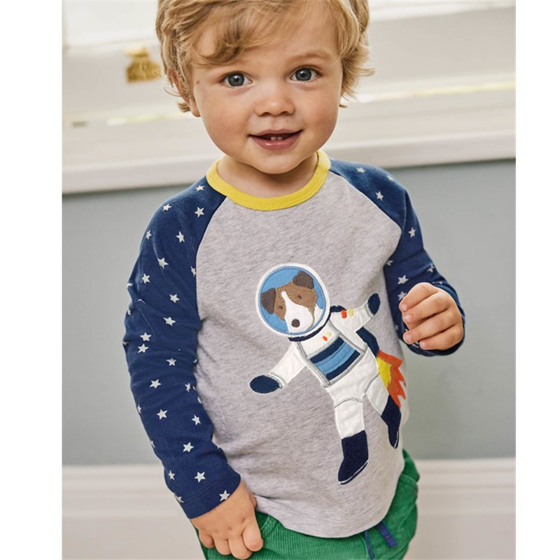 Jumping meters New models fashion Baby T shirts Boys autumn spring kids clothes cotton long sleeve children Boy O-neck T-shirt new hot sale 2016 korean style boy autumn and spring baby boy short sleeve t shirt children fashion tees t shirt ages