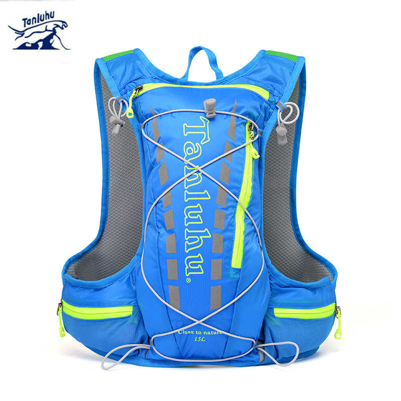 Outdoor Jogging bags marathon water bag Climbing Rucksack Tanluhu Unisex 15L cycling running backpack light breathable Hydration
