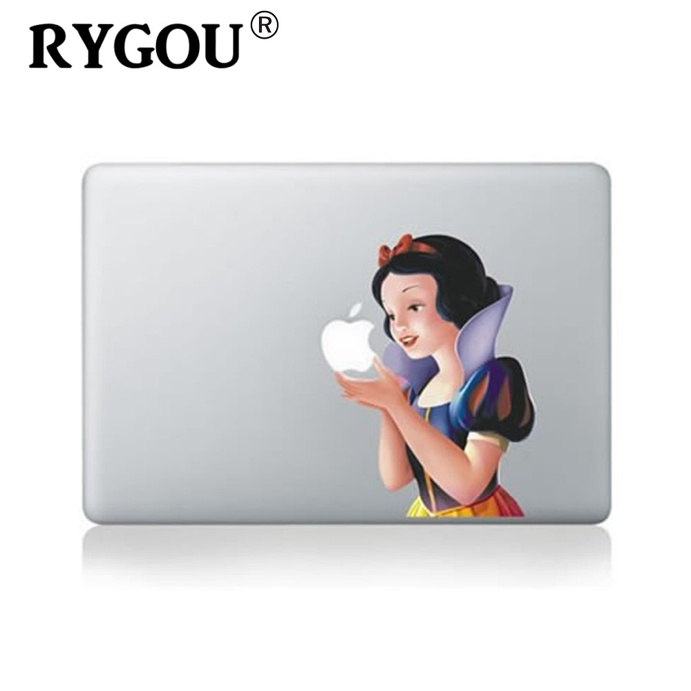 RYGOU For Macbook air 13 vinyl sticker for macbook Pro Retina 13 inch Laptop Personality Snow White Cartoon Skin Decal cover