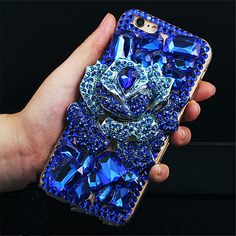 For Huawei Mate 7 8 9 10 Lite Pro Nova 2 Plus 2S Luxury Big Flower Fashion Glitter Diamond Rhinestone Phone Case Soft Back Cover