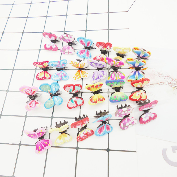 6PC New Little Girl Cute Small Butterfly Hair Claw Kid Colorful Barreette Soft Ceramics Metal Hairpin Snap Clip Hair Accessories new hair claw for women girl elegant high quality hair clip party decorations holiday gift accessories