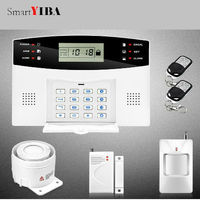 SmartYIBA GSM Home Security Wireless and Wired Spanish/French/English/Russian/Italian etc.Voice Prompt Alarm System Motion Alarm