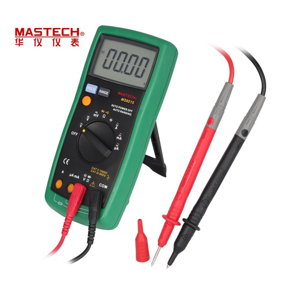 MASTECH MS8215 handheld Digital Multimeter DC AC Voltage Current Tester capacitance frequency resistance Tester detector auto range handheld 3 3 4 digital multimeter mastech ms8239c ac dc voltage current capacitance frequency temperature tester