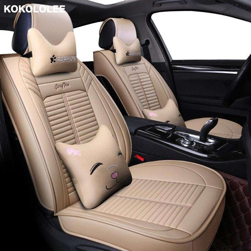 KOKOLOLEE siège de voiture couvre pour Hyundai tucson santa fe creta getz grand starex i10 i20 i30 i30 i40 ix25 ix35 auto accessoires