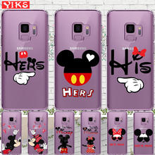 Mickey Minnie Couple Case For Samsung S8 S9 Plus Note 8 soft silicone Case For Coque Samsung Galaxy S6 S7 Edge S8 S9 Plus Cover животные 100 вопросов и ответов