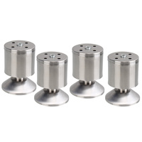 4PCS Stainless Steel 8cm Height Sofa Leg Furniture Parts Bed TV Cabinet Feet