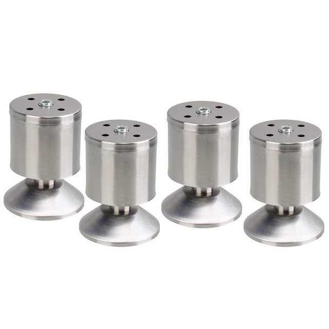 4PCS Stainless Steel 8cm Height Sofa Leg Furniture Parts Bed/TV Cabinet Feet