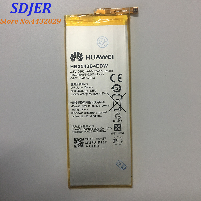For Huawei P7 Battery HB3543B4EBW 2460Mah Battery Replacement Li-battery For Huawei Ascend P7 Android Smart Phone