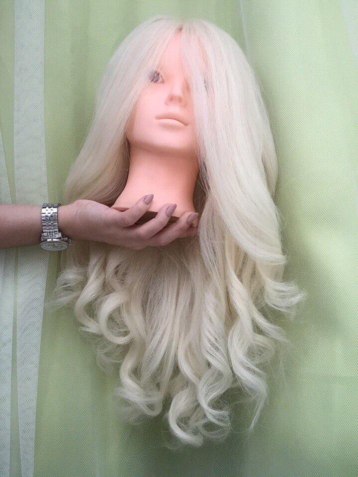 Blonde cheveux mannequins pour vente maquillage pratique head mannequin Belle manequim avec blanc cheveux Mariée Curl coiffure têtes de poupées