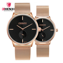Chenxi oro rosa amantes reloj para los hombres relojes mujer marca de lujo  de oro reloj 08e4bfe49f82