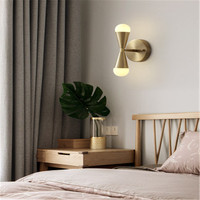 Nordic lâmpadas todo o cobre lâmpada de parede simples quarto cabeceira sala estar tv fundo parede iluminação