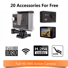 1080P 1.5″ WiFi Diving 30M Action Camera Waterproof extreme camera Sport DV Video Camcorder 170 Deg Wide Angle Lens+Memory card