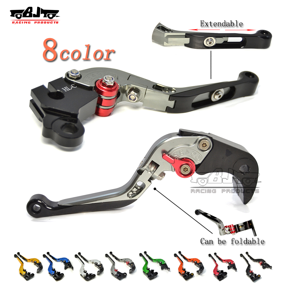 Freeshipping 8colors Folding lever Extendable Clutch Brake Levers For Triumph Daytona 675 Speed Triple  675 Street Triple R/RX adjustable billet extendable folding brake clutch levers for triumph daytona 675 r 2011 2015 speed triple 1050 r 12 15 2013 2014