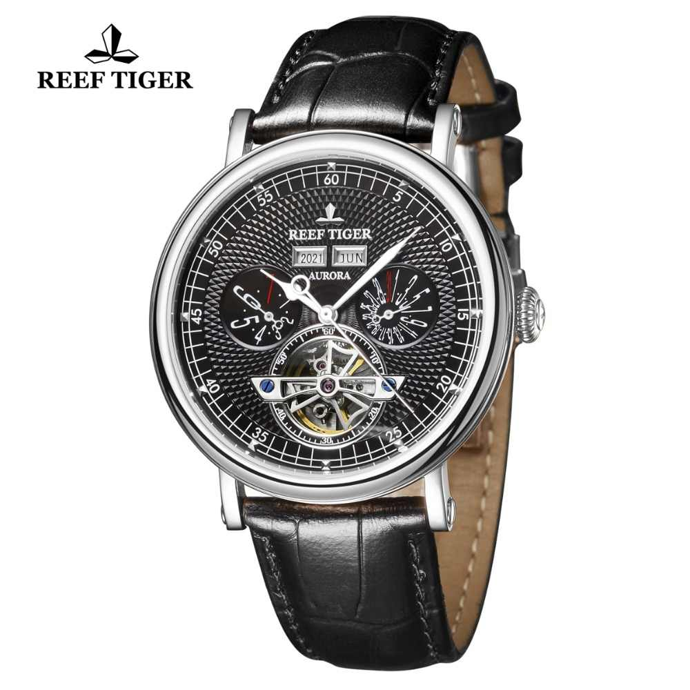 Reef TigerRT Luxury Mens Casual Watches Perpetual Calendar Watch Tourbillon Mechanical Watch Waterproof Heren Horloge RGA1903