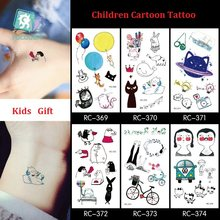 Rocooart Kids Cartoon Temporary Tattoo Sticker Fake Waterproof Tatoo Paste Baby Gifts Toy Inspired Flash Tattoo Child Body Arm(China)