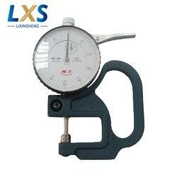 Wysoka dokładność 0 ~ 10mm wybierz miernik grubości 30mm mechaniczne/Dial mechaniczny mikrometr Gauge dla filmu  papier w Części do narzędzi od Narzędzia na
