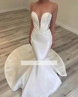 Vestido De Noiva 2018 Lace Wedding Dresses Long Mermaid Sweetheart Appliques Saudi Arabic Women Wedding Gown Bridal Dresses