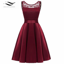 Prom Dresses Short Plus Size Lace Dress Red Matron of Honor Robe Vestidos De Fiesta Elegante
