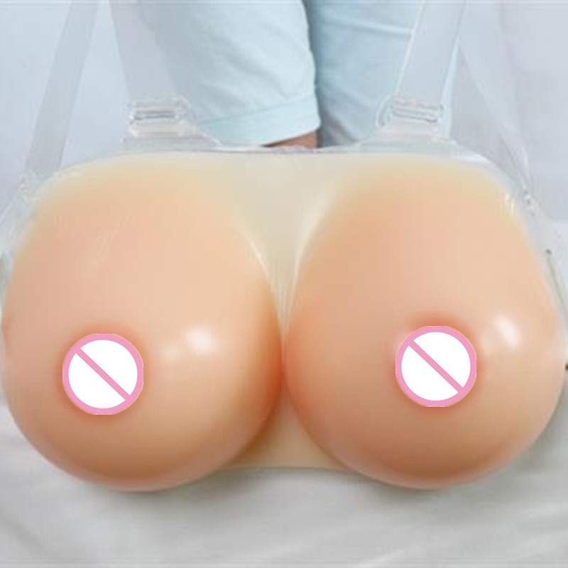 ФОТО free shipping , cheap high quality artificial breast forms latex boobs 800g B/C cup for transgender /women