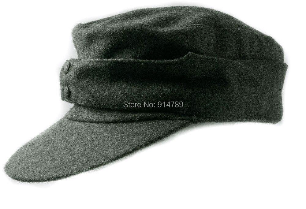 WWII GERMAN WH EM M43 PANZER WOOL FIELD CAP IN SIZES-35774