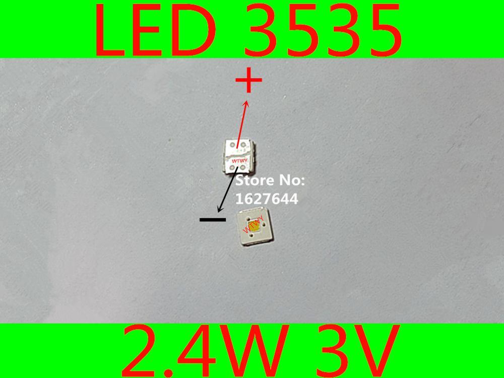 1000pcs LUMENS LED 3535 LED Backlight TV Flip Chip High Power 2 4W 3V Backlight Cool