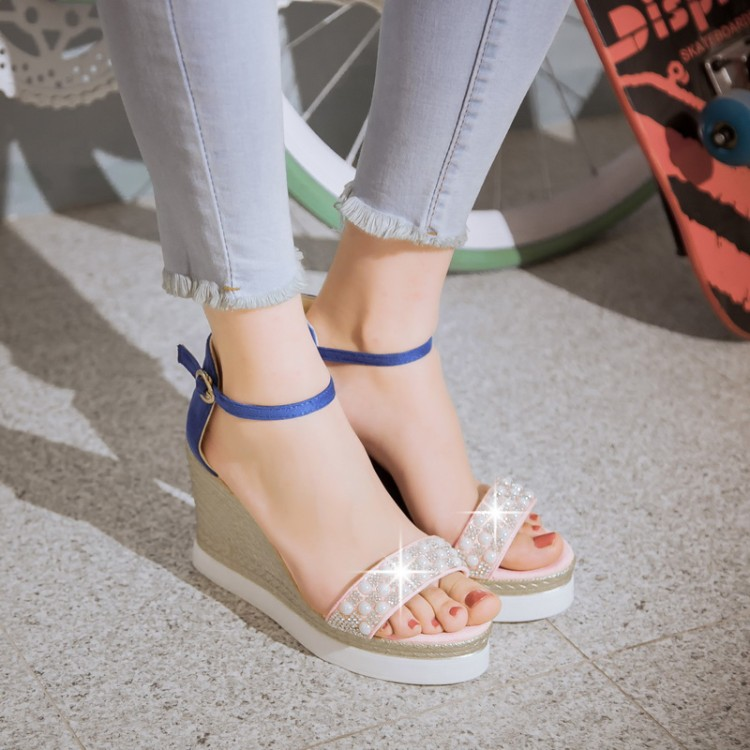 ФОТО 2017 Rushed Sapato Feminino Tenis Feminino Summer Style Women Shoes Big Size 34- 43 Sandals Ladies Lady High Heel Pumps X-12