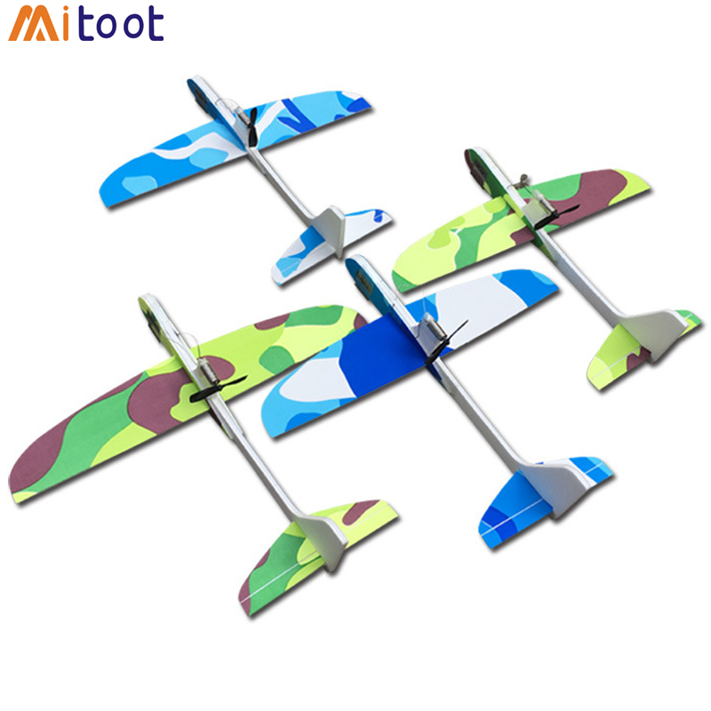 DIY Kids Toys Capacitance Hand Throw Flying Glider Planes Foam Aeroplane Model Party Bag Fillers Flying Glider Plane Toys