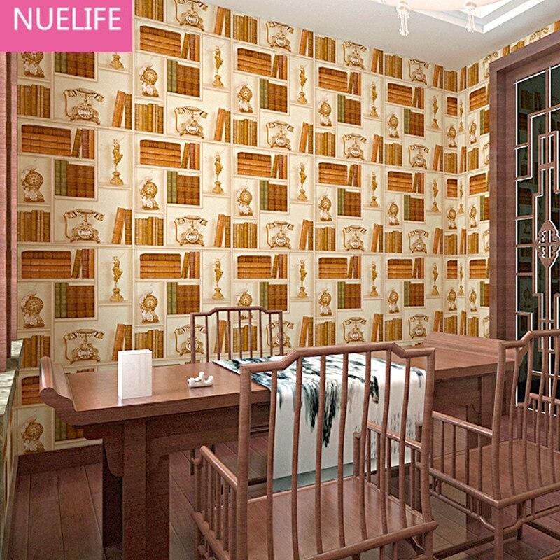 0.53x10 M 3d Creatieve Boekenplank Bibliotheek Patroon Behang Studeerkamer Cafe Woonkamer Slaapkamer Tv Achtergrond Behang Fijn Verwerkt