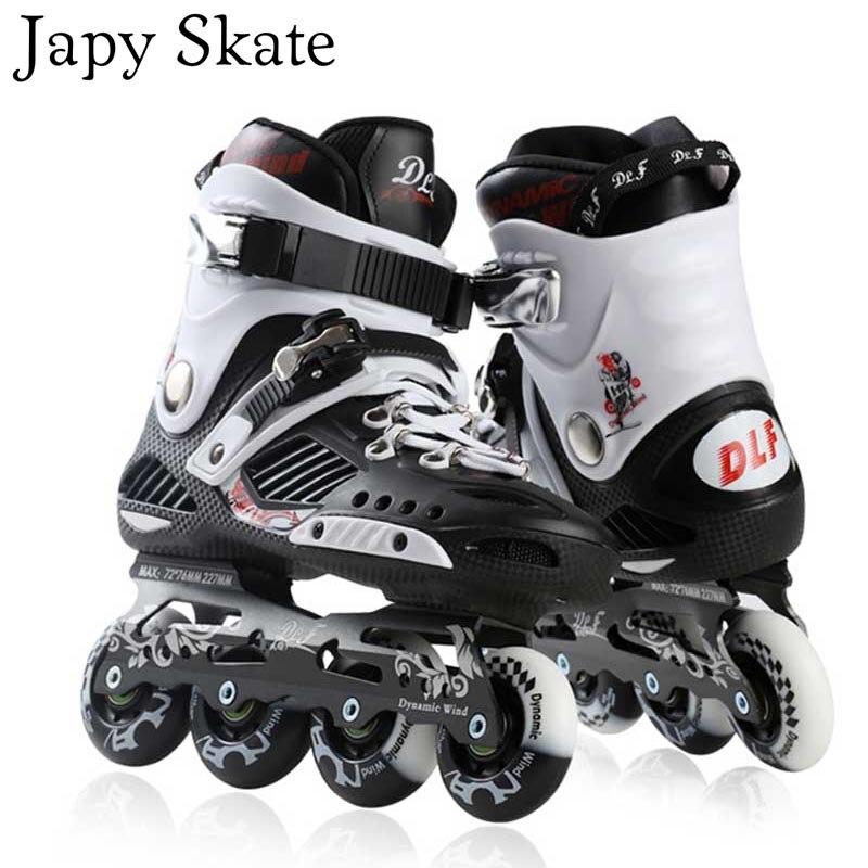Prix pour Jus japy Skate T3 Inline Patins Professionnel Slalom Rouleau Adulte De Patinage Chaussures De Patinage Coulissante Libre Bonne Qualité Comme SEBA Patines
