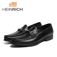 HEINRICH New Brand Fashion Men Shoes Mens Formal Set Foot Shoes Genuine Leather Breathable Business Office Men Shoes Mocasines