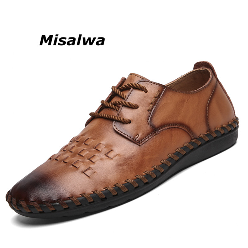 Vintage Land Rover Mens Loafer Driving Moccasin Brown: Misalwa Men's Driving Causal Loafers Lace Up Leather