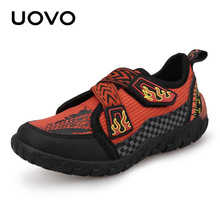 цены New Boys And Girls Sport Shoes UOVO 2018 Children Shoes Breathable Kids   Sneakers Baby running shoes size #25-#30 Baby shoes